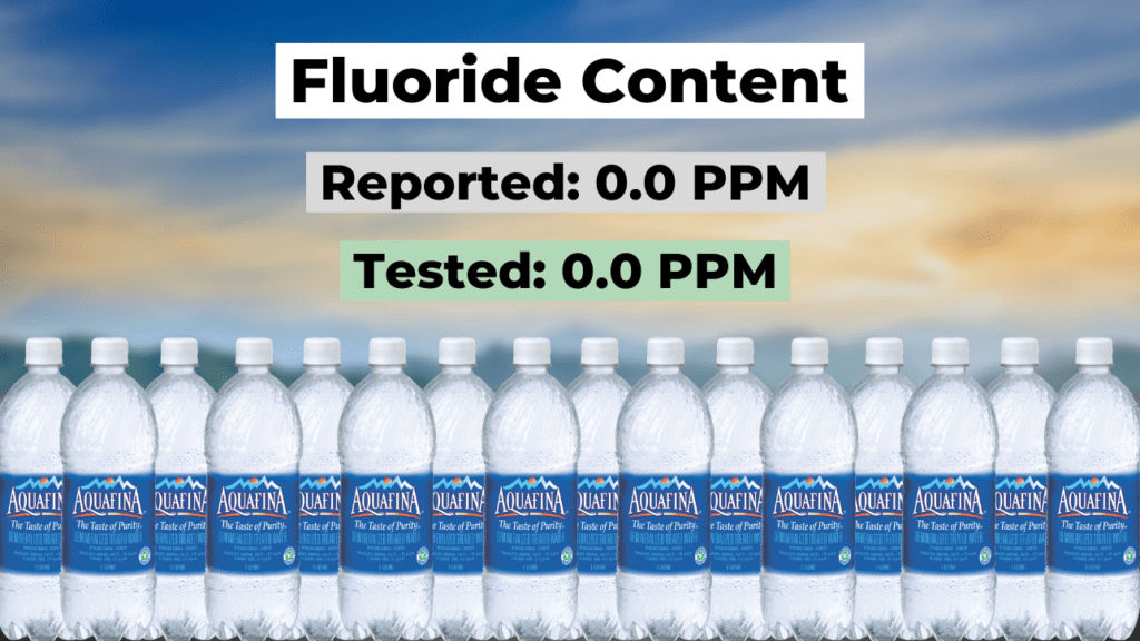 does aquafina have fluoride? summary, reported and tested fluoride levels