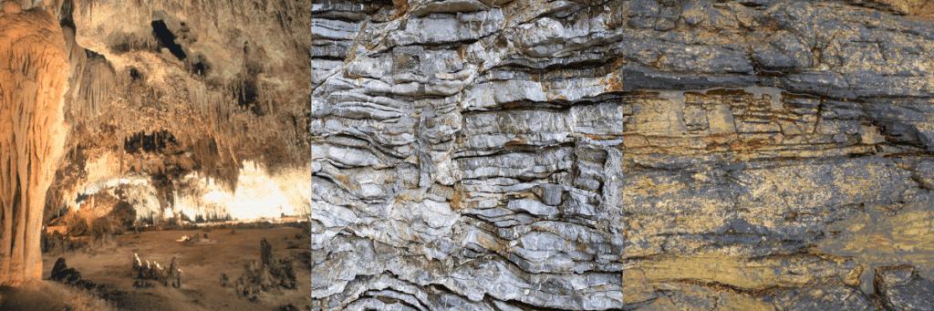 rocks, limestone, dolomite, and shale bedrock