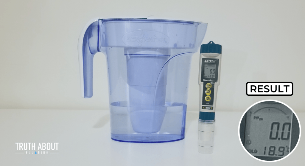 zerowater filter tested with fluoride meter result 0.0ppm