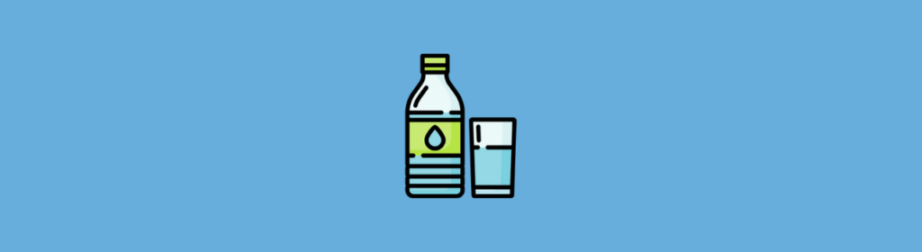 icon of glass and water