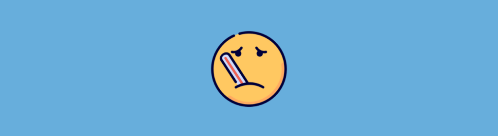 sick smiley face icon