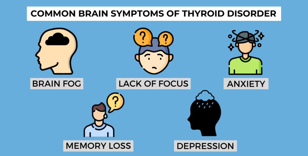 common brain symptoms of thyroid disorder