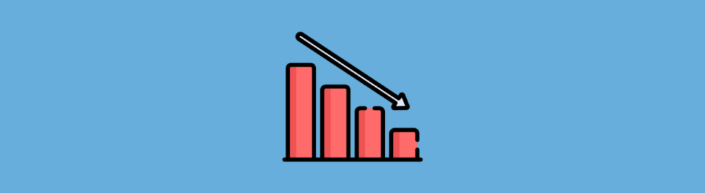 icon downward growth icon