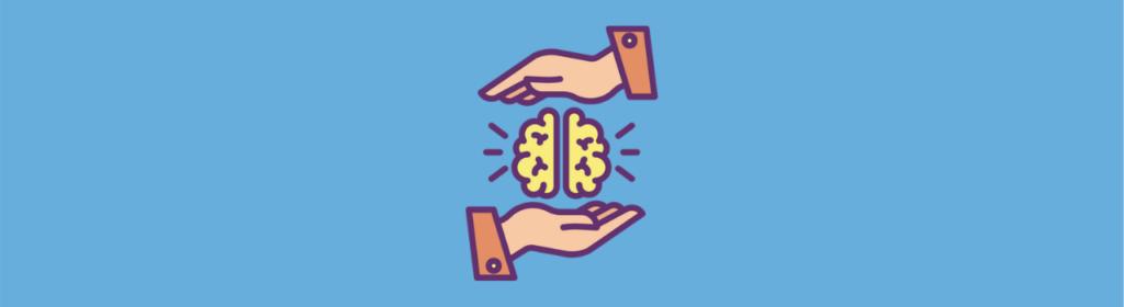 brain between hands icon