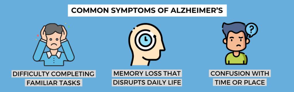 common symptoms of alzheimer's
