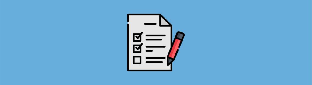 check list with pen icon