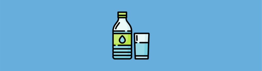 bottled water and glass of water icon