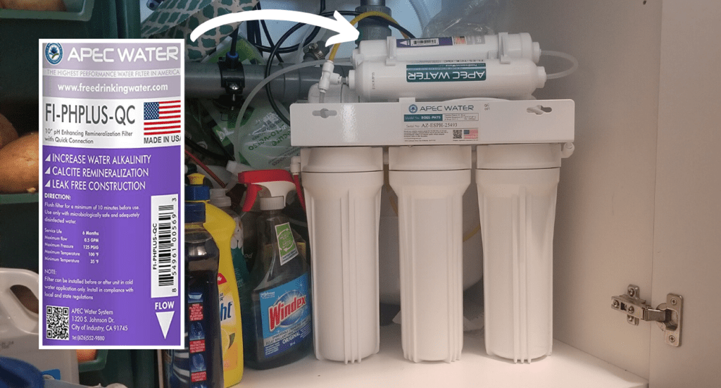 apec reverse osmosis water filter stage 5, re-adds beneficial minerals