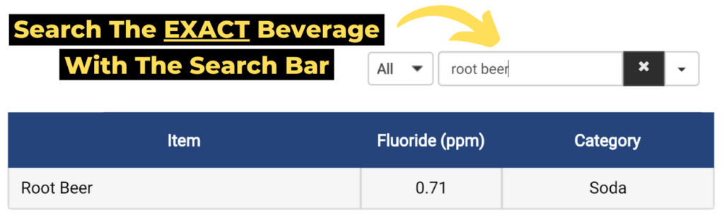tip 1: search the exact beverage with the search bar.