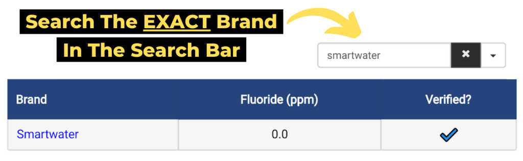 step 1: search the exact brand of bottled water in the search bar