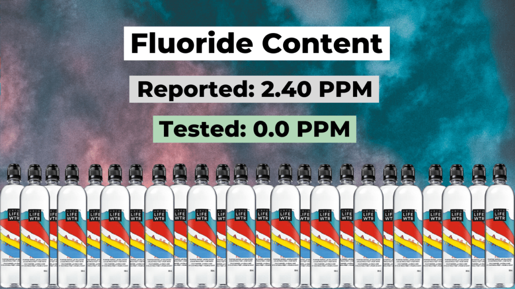 does arto lifewtr have fluoride? summary of results, reported and tested levels