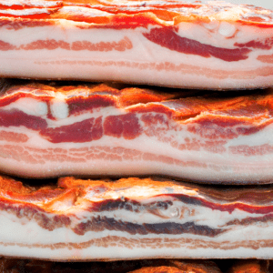 food low in fluoride: bacon