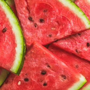 food low in fluoride: watermelon