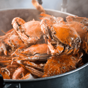 foods high in fluoride: crab