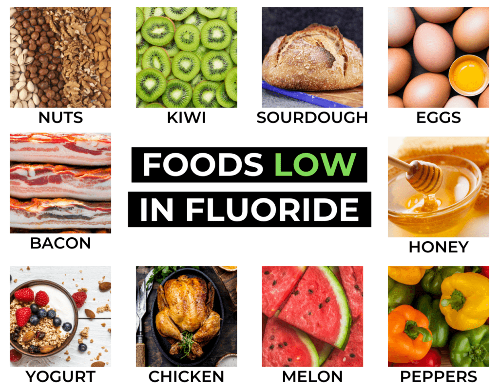 foods that contain fluoride, food low in fluoride.
