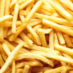 foods high in fluoride: french fries