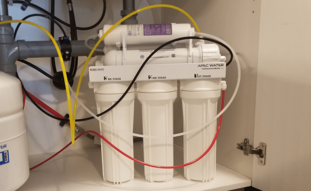 picture of reverse osmosis filter that removes fluoride