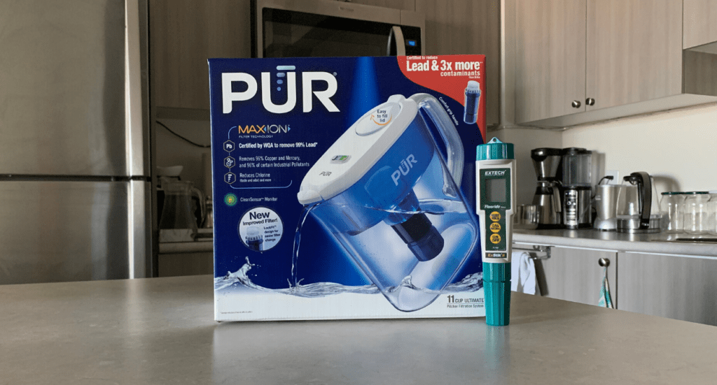 pur water filter and fluoride meter