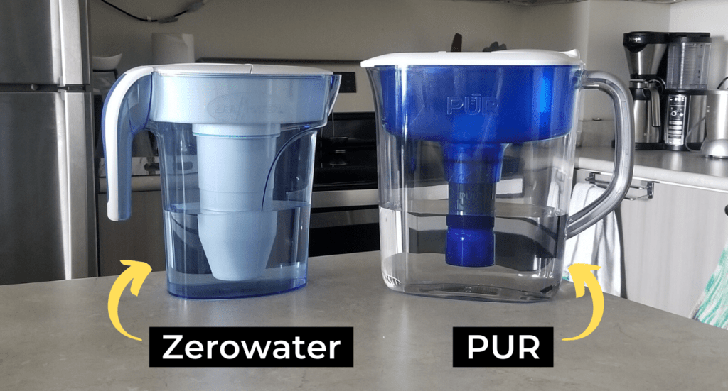 zerowater filter pitcher and pur filter pitcher
