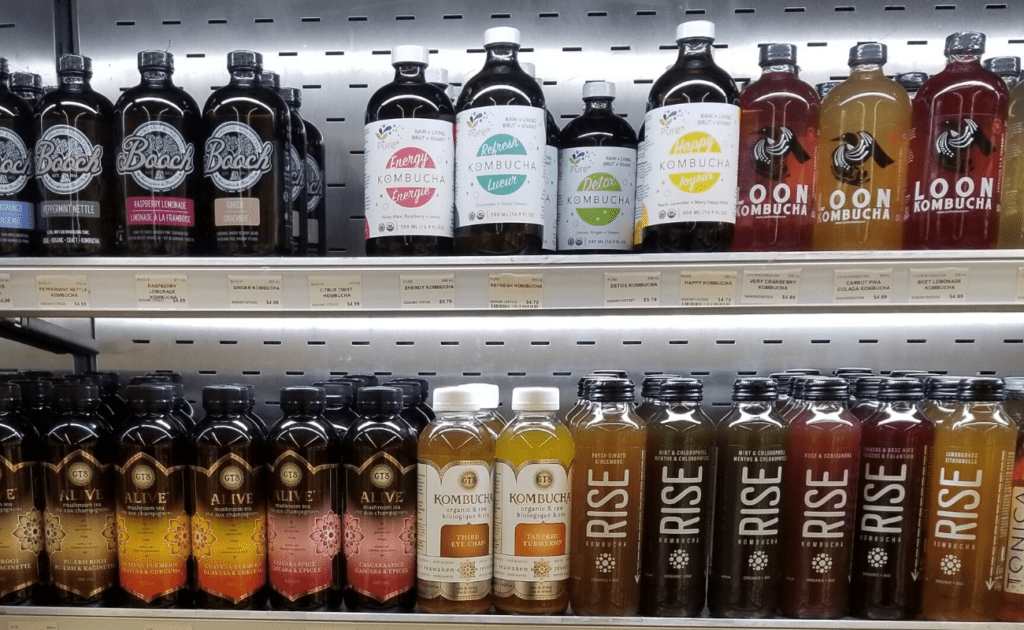 kombucha on store shelves