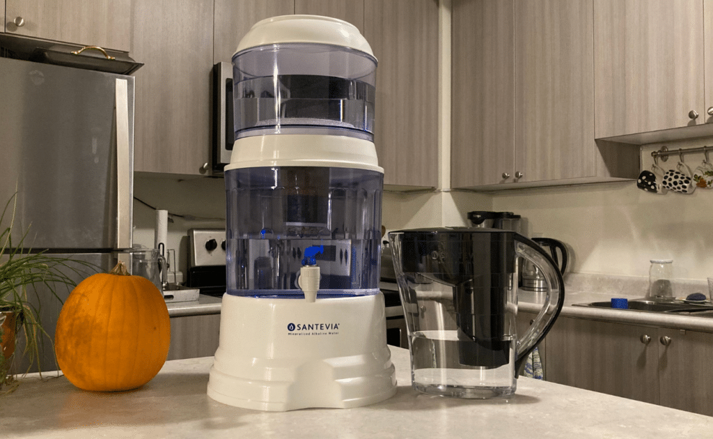 Santevia countertop and water pitcher filters