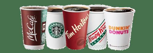 transparent coffee cups