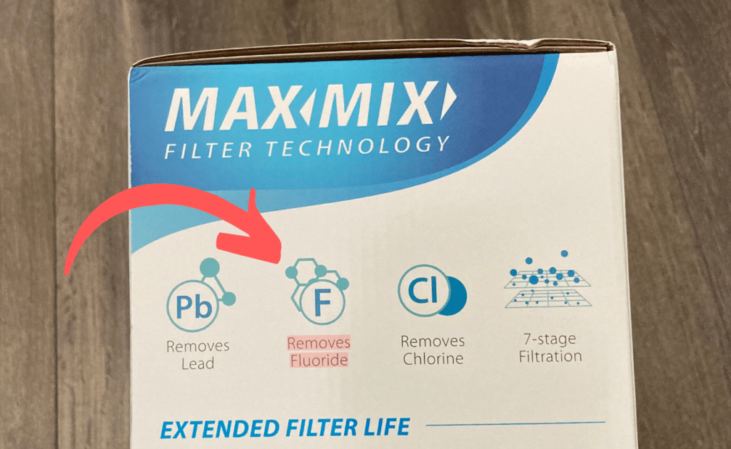 waterdrop filter box states it removes fluoride