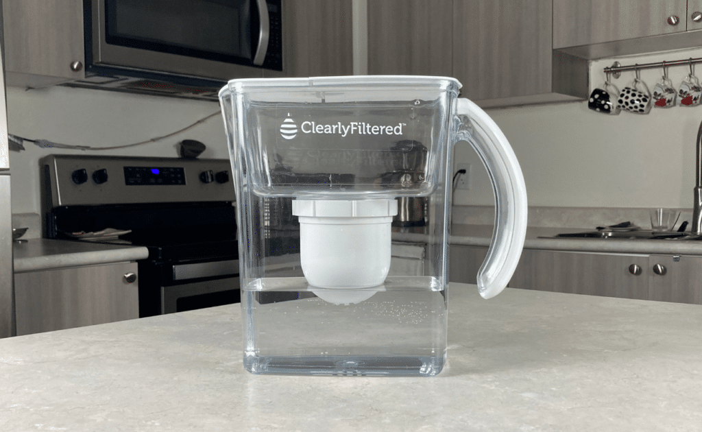 clearly filtered water filter pitcher
