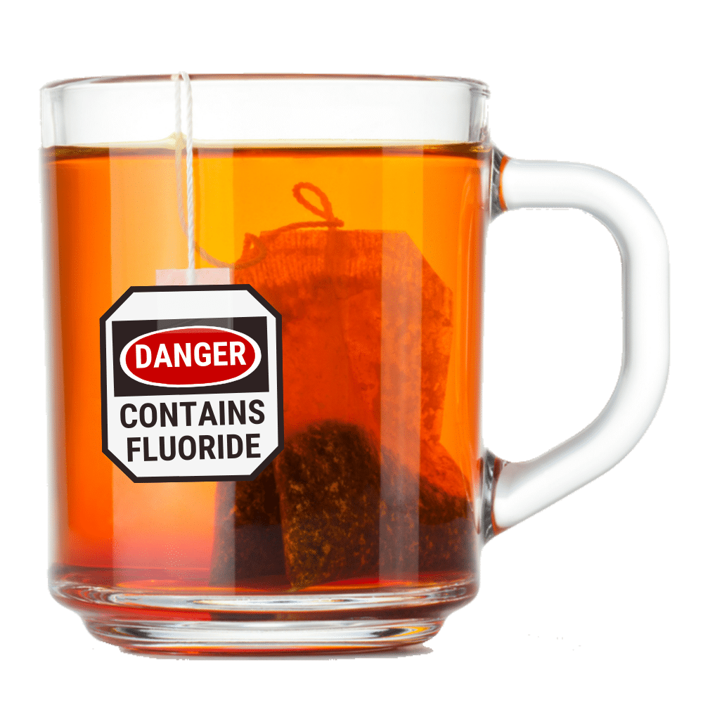 cup of tea with fluoride warning