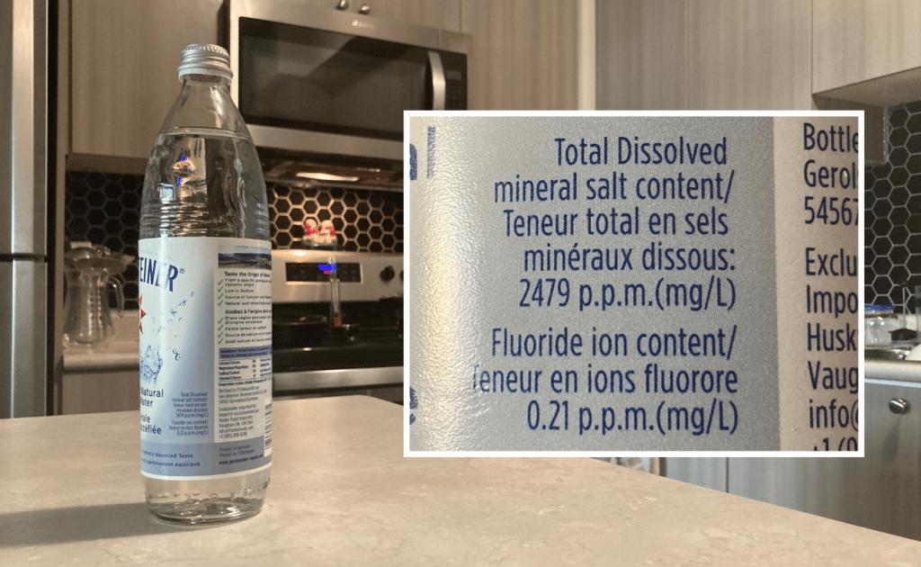 gerolsteiner fluoride levels on label