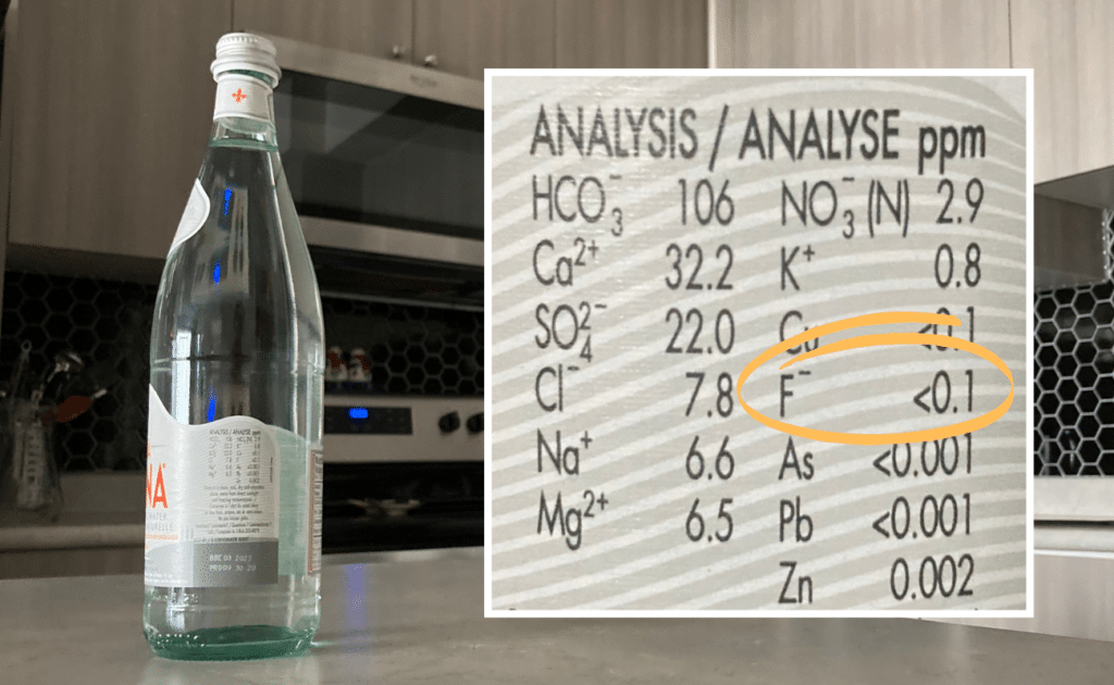 acqua panna fluoride levels on bottle