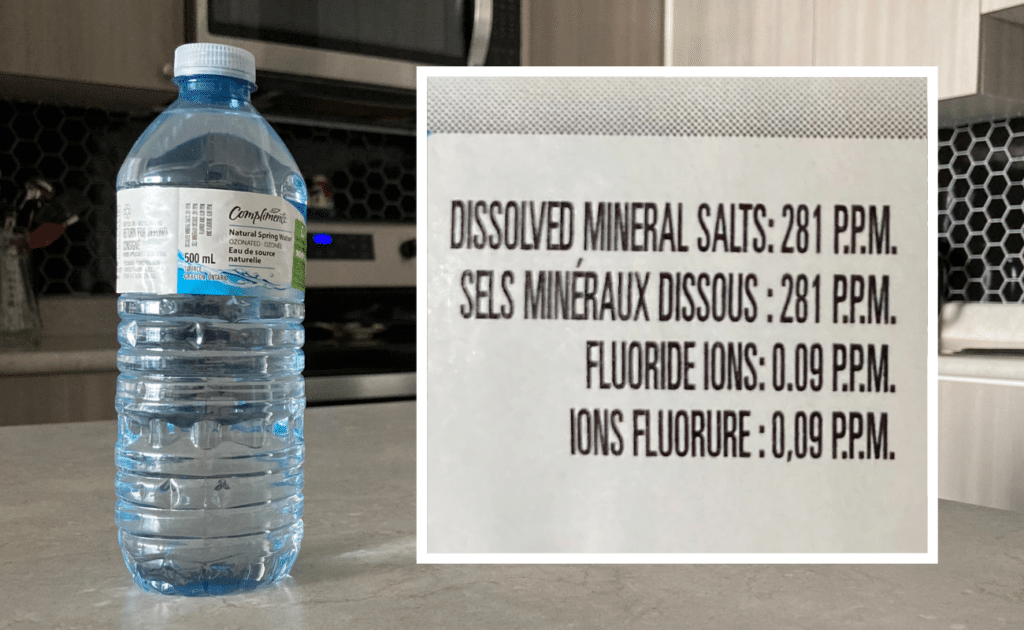 compliments fluoride levels on label
