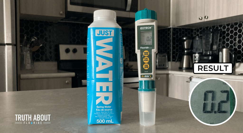 just water tested for fluoride, 0.2 ppm result